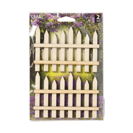 Plaid Fairy Garden Fence Set, 2 Piece ()