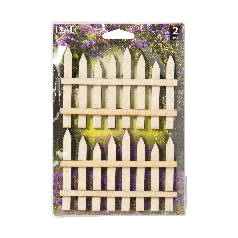 Plaid Fairy Garden Fence Set, 2 Piece