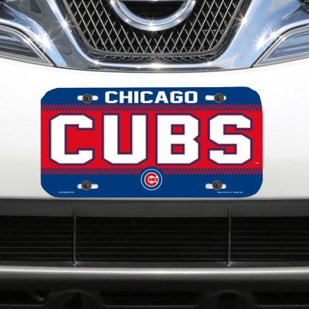 Chicago Cubs WinCraft Logo Plastic License Plate - No Size