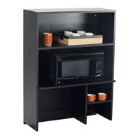 1706AN Classroom Furniture 80 Lbs Weight Capacity Asian Night Top & Doors Black Cabinet Hospitality Appliance Hutch