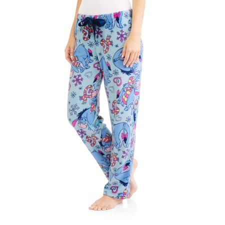 Disney Eeyore Women's License Pajama Super Minky Plush Fleece Sleep Pant