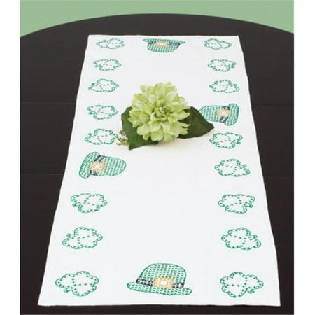 Stamped Table Runner-Scarf 15 in. x 42 in.-St. Patricks Day