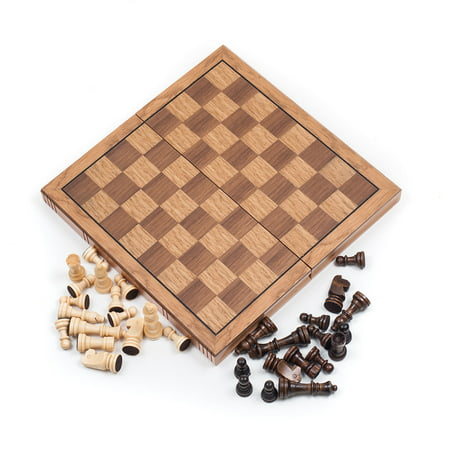 Wooden Book Style Chess Set, Chess Board with Staunton Chessmen by Hey!