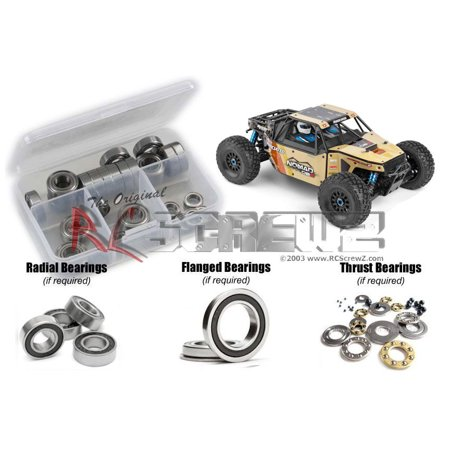 RC Screwz Rubber Shielded Bearing Kit for Team Associated Nomad DB8 (80941)