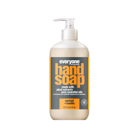- Everyone Liquid Hand Soap, Triclosan-Free, Apricot & Vanilla, 12.75 Oz