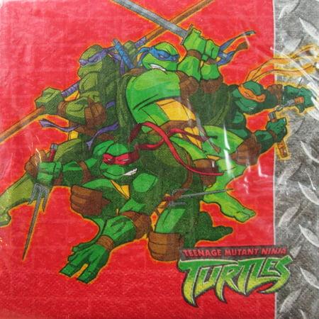 Teenage Mutant Ninja Turtles Vintage Red Lunch Napkins (16ct)](Ninja Turtle Napkins)