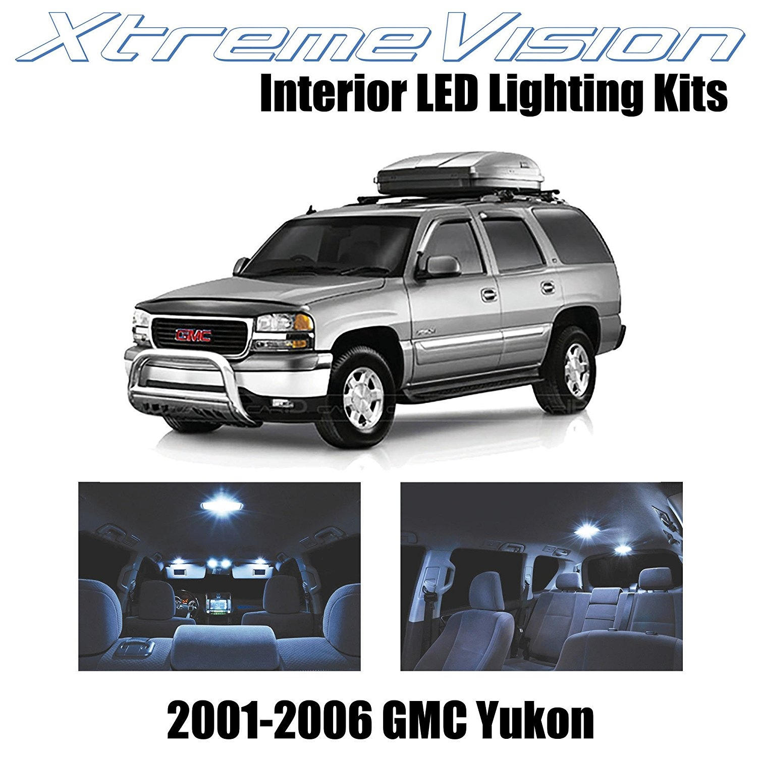 XtremeVision LED for GMC Yukon 2001 - 2006 (18 Pieces) Cool White Premium Interior LED Kit Package + Installation Tool