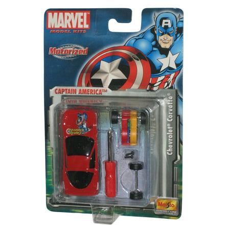 Marvel Maisto Captain America Motorized Chevrolet Corvette Toy Car Model Kit ()