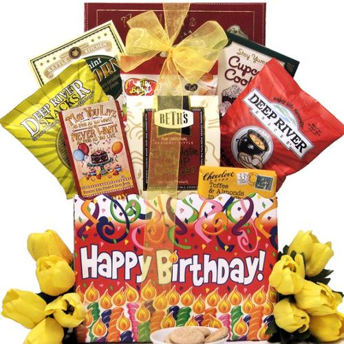 GreatArrivals.com Gift Baskets Great Arrivals Happy Birthday Sweets & Treats Gift Basket