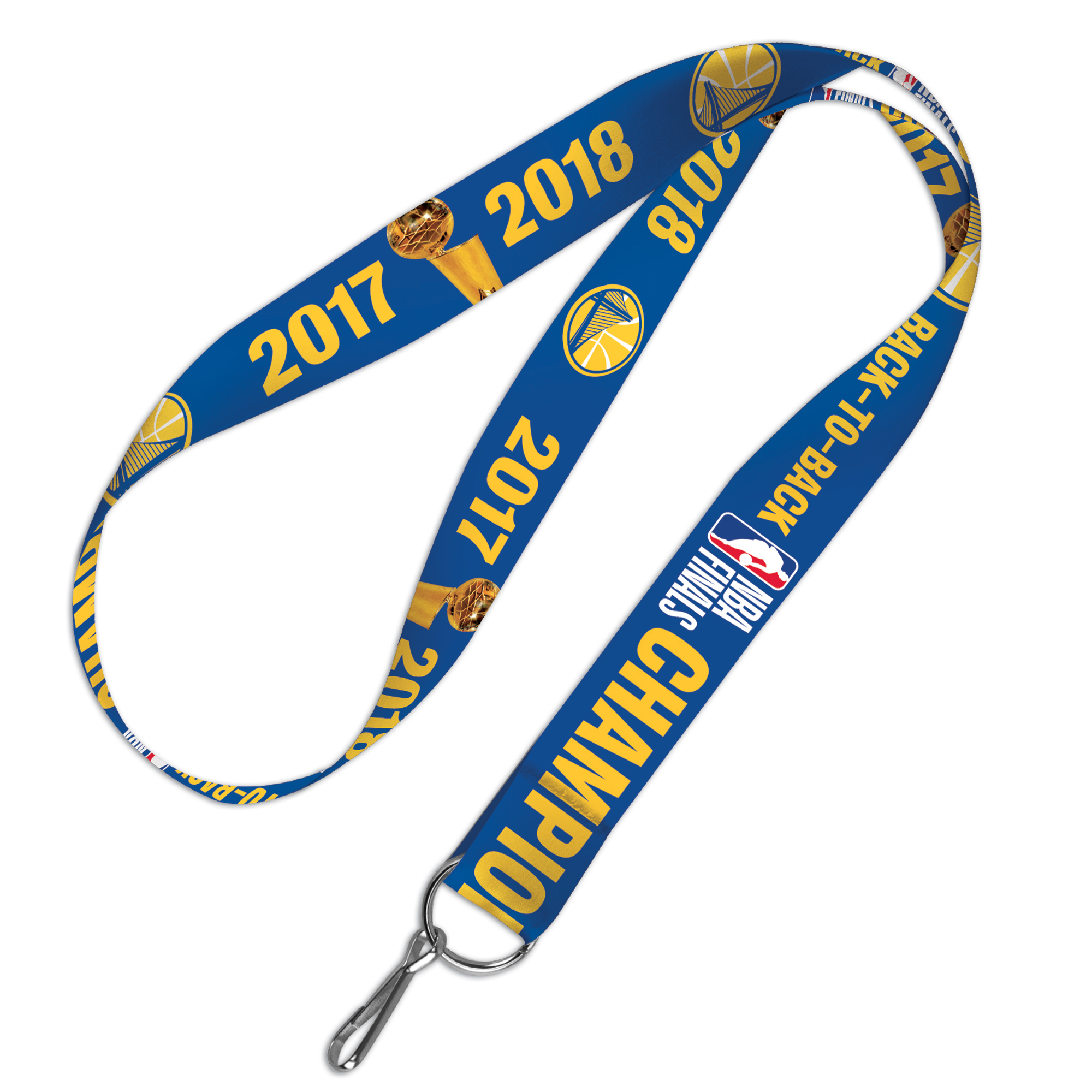 Golden State Warriors Official NBA 2018 National Champions Lanyard Key Strap Keychain by 332110