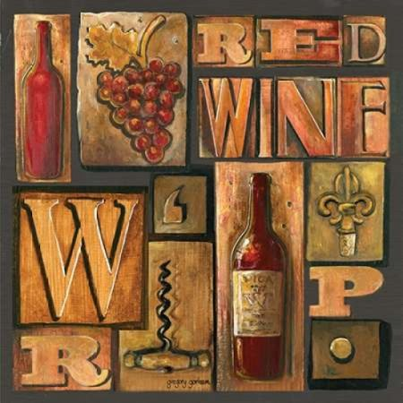 Posterazzi Type Set Wine Sq I Canvas Art - Gregory Gorham (24 x 24)