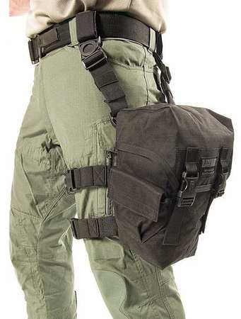 BLACKHAWK 56GM03 Gask Mask Pouch, Black, Gas Masks by BLACKHAWK!