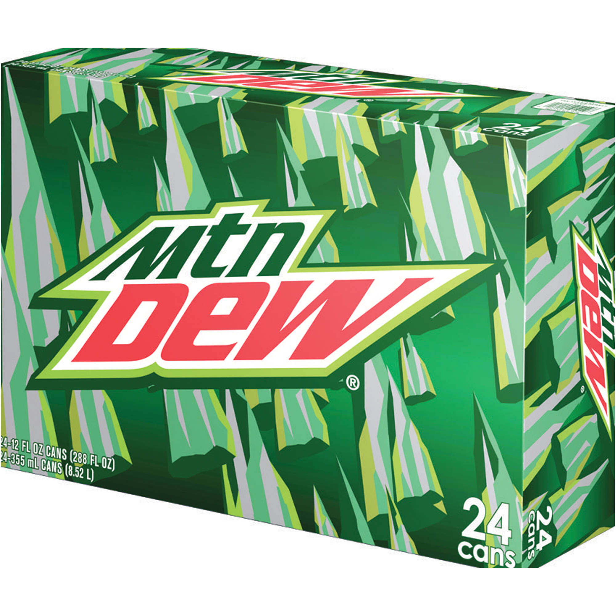 Mountain Dew Soda, 12 fl oz, 24 pack