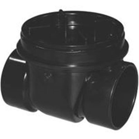 Oatey 43901 Backwater Valve, ABS, Black