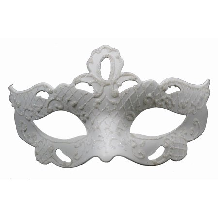 CLASSIC VENETIAN MASK - Masquerade - SPARKLING COSTUME - White Masquerade Masks For Men