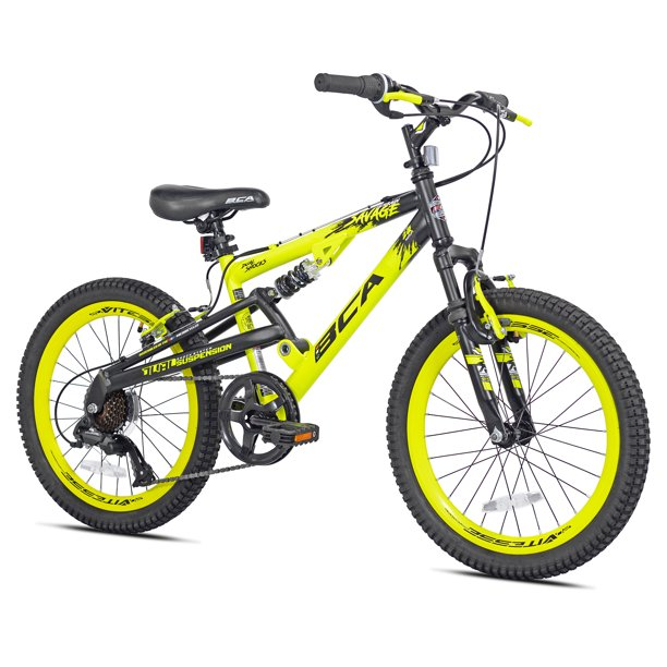 "BCA 20"" Savage Boy's Mountain Bike, Yellow/Black"