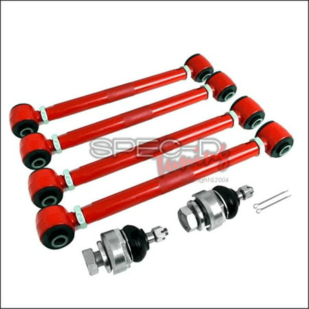 Spec-D Tuning CAM-2ACD03 6 Pieces Camber Kit Front & Rear for 03 to 07 Honda Accord, Red - 3 x 11 x 16 in.