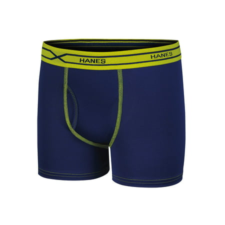 Hanes Boys' X-Temp Performance Cool Embossed Boxer Brief, 5 Pack