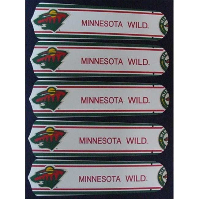 Ceiling Fan Designers 52SET-NHL-MIN New NHL MINNESOTA WILD 52'' Ceiling Fan BLADES ONLY