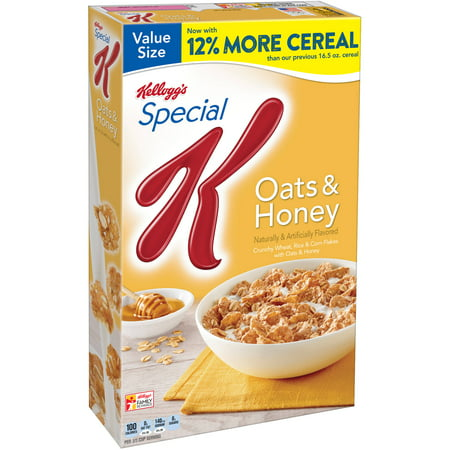 Kellogg's Special K Breakfast Cereal, Oats & Honey, 18.5 Oz