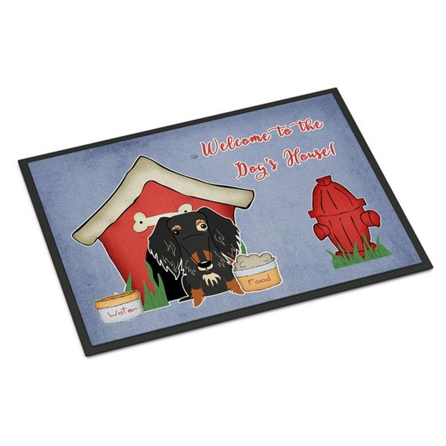 Carolines Treasures BB2882MAT Dog House Collection Wire Haired Dachshund Dapple Indoor or Outdoor Mat, 18 x 0.25 x 27 in. - image 1 of 1