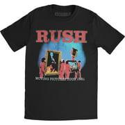 Rush Men's  Moving Pictures World Tour 1981 Slim Fit T-shirt Black