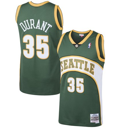 Kevin Durant Seattle SuperSonics Mitchell & Ness 2007-08 Hardwood Classics Swingman Jersey - Green for $<!---->