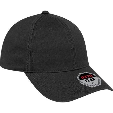 OTTO FLEX Garment Washed Cotton Twill 6 Panel Low Profile Baseball Cap - (Flex Garment Washed Cotton Twill)