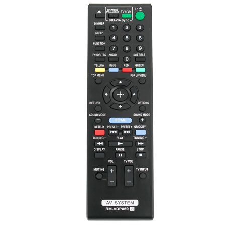 New RM-ADP069 Replaced Remote Control compatible with Sony AV System BDV-N890W BDV-T57 BDV-E280 HBD-E580 ()