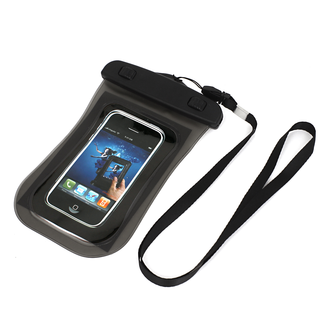 Transpa Waterproof Case Dry Bag Protective Cover Pouch Gray For Cell Phone