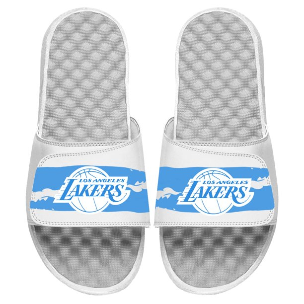 Islide Los Angeles Lakers Islide 2020 21 City Edition Paint Stripe Slide Sandals White Walmart Com Walmart Com