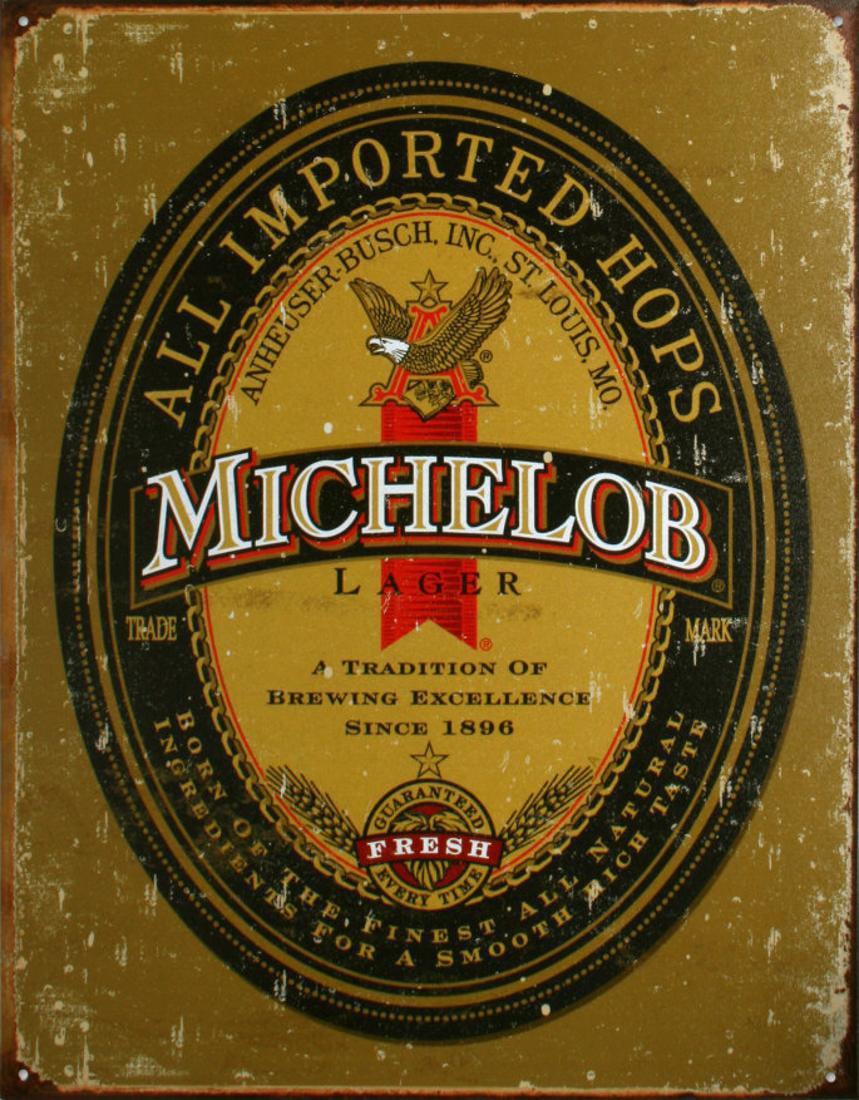 Miller High Life Brew TIN SIGN beer bottle vtg logo home bar wall art decor 978