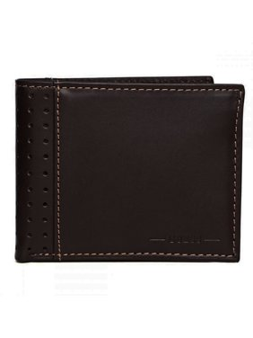 Guess Men's Leather Wallet Passcase Double Billfold Brown 31GU22X035 Credit Card Id