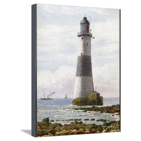 The Beachy Head Lighthouse Stands on Rocks Offshore Below the Celebrated Cliffs Stretched Canvas Print Wall - Offshore Rocks