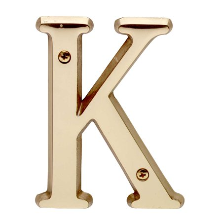 Letter   K   House Letters Solid Bright Brass 4     Renovators Supply