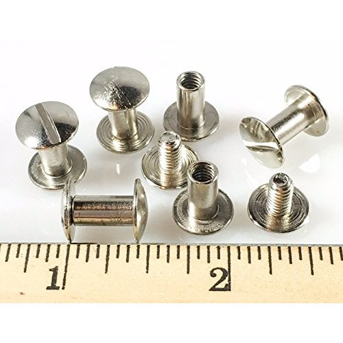 Various Colors /& Sizes Dangerous Threads Scrapbook Binding Screws Screw Post Extenders 25 Pieces, Gold - 1//2