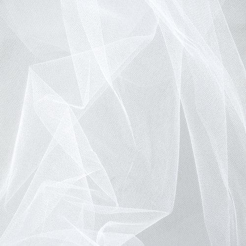 Mandel Sparkle Tulle White