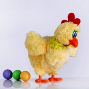 Tinymills Funny Electric Musical Dancing Chicken Laying Egg Doll Raw Crazy Singing Dancing Electric Pet Plush Toy 1Pcs