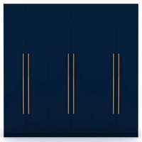 Manhattan Comfort Gramercy Wardrobe Armoire Closet-Color:Tatiana Midnight Blue