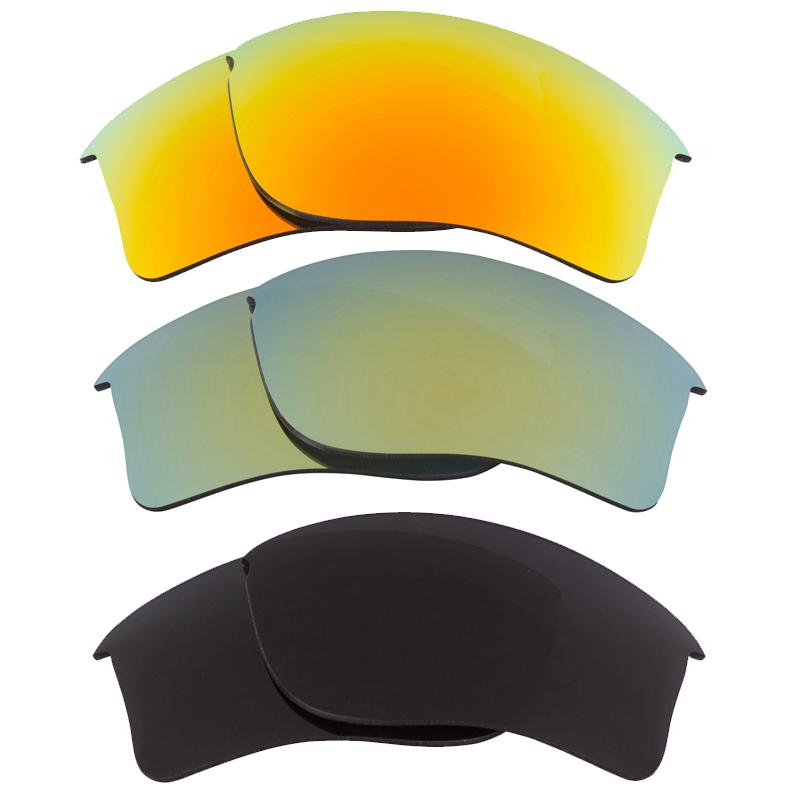 Best SEEK Replacement Lenses for Oakley FLAK JACKET XLJ Grey Yellow Green Mirror