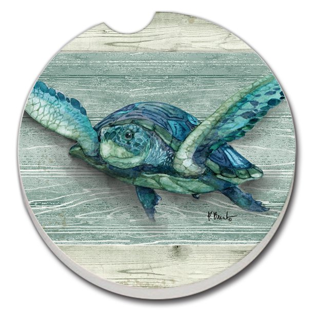 Counterart Northpoint Turtles 1 Pack Absorbent Stone Car Coaster 2 6 Inch Round Walmart Com Walmart Com