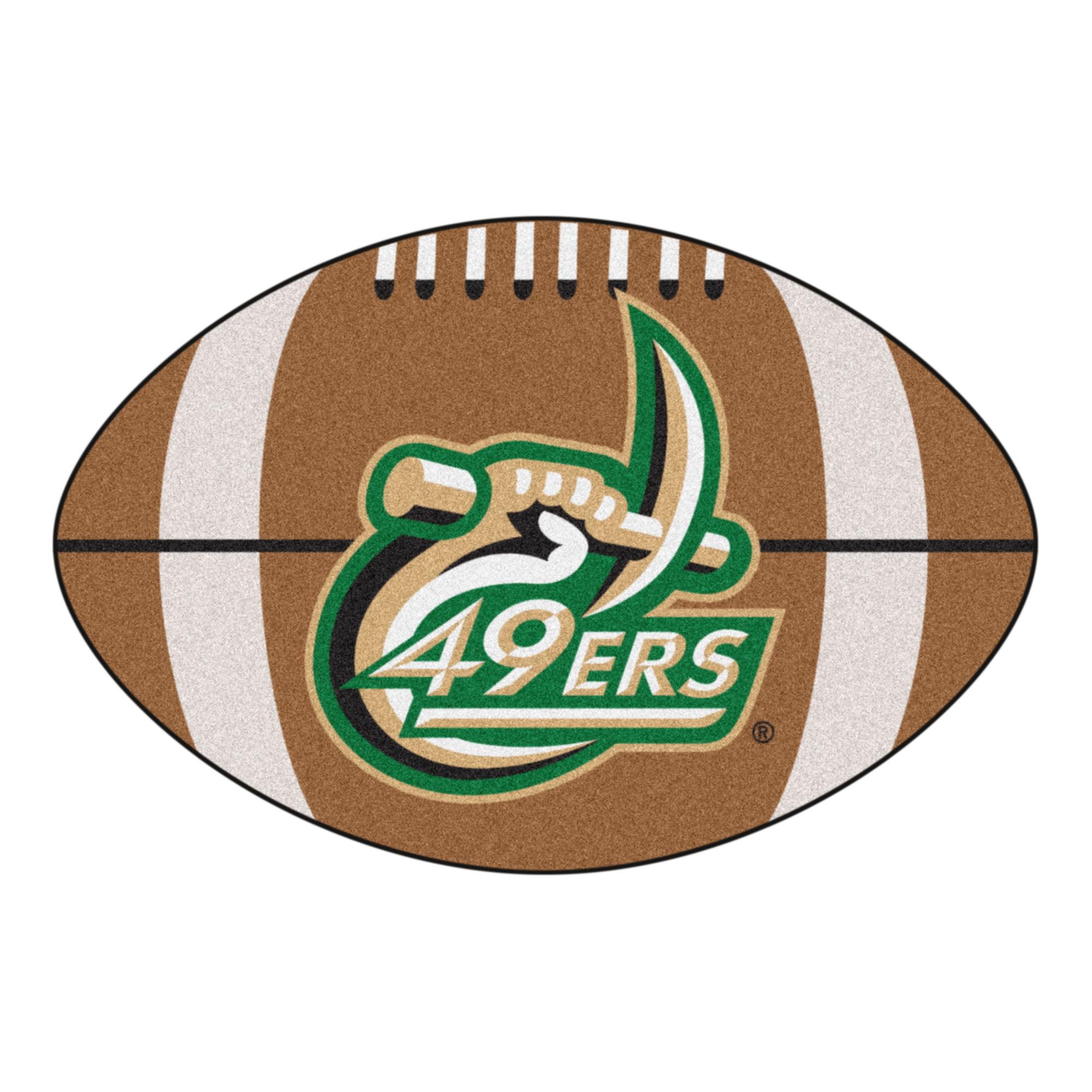 Ncaa University Of North Carolina Charlotte Forty Niners Football Shaped Mat Area Rug Walmart Com Walmart Com