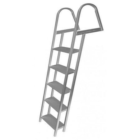 (Marine 5 Step Pontoon - Dock Boat Ladder - Aluminum)
