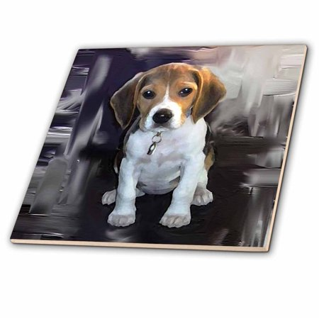 Beagle Tile Box - 3dRose Beagle - Ceramic Tile, 4-inch
