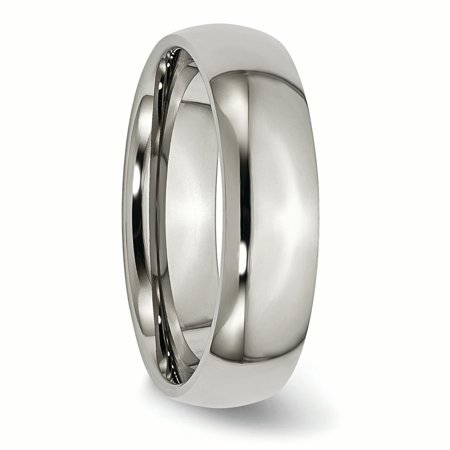 Titanium 6mm Wedding Ring Band Size 13.50 Classic Domed Fashion Jewelry Gifts For Women For Her - image 1 de 11
