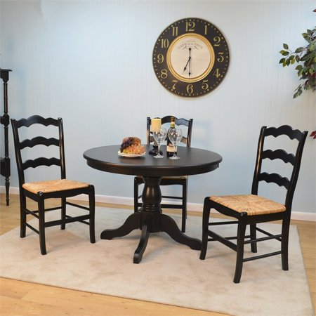 Florence Ladder Back Chair Antique Black - Florence Antique Mall