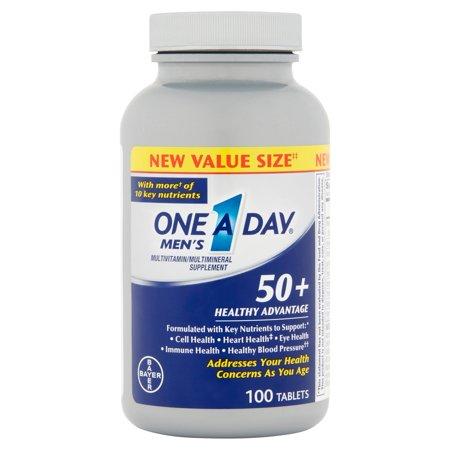 One-A-Day 50+ Avantage santé des hommes multivitamines 100 ch