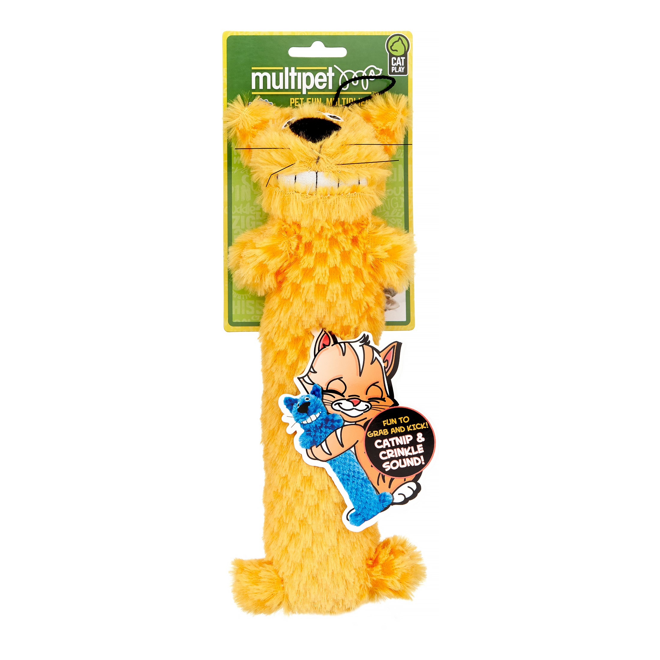 MultiPet Loofa Cat Toy, 10 Inch , Assorted Colors by Multipet
