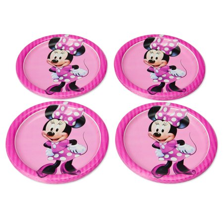 American Greetings Minnie Mouse Paper Dessert Plates, - Party Paper Outlet