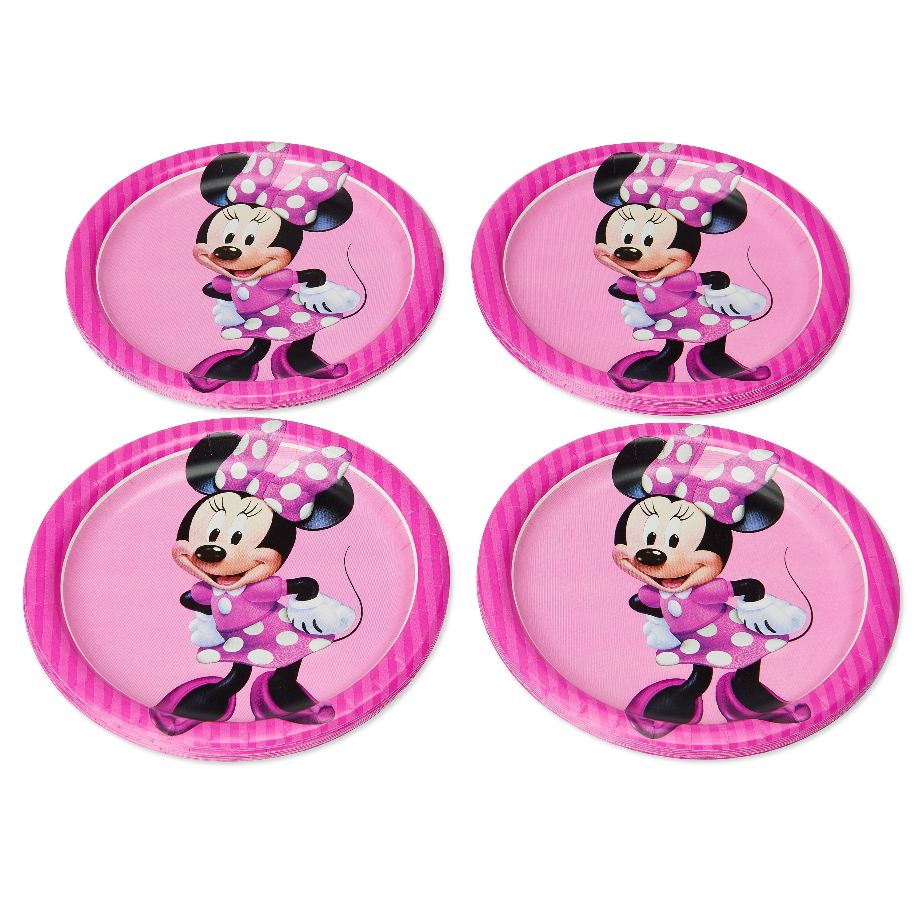 American Greetings Minnie Mouse Paper Dessert Plates, 36-Count